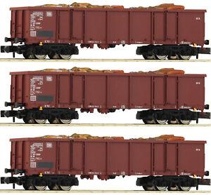 Fleischmann 828345 N Gauge Set:3- partly open Freight car Eaos