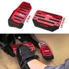 2x Red Non-slip Automatic Gas Brake Foot Pedal Pad Cover Car Accessories Parts A