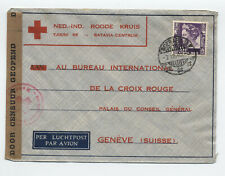 1940 Netherlands Indies cover to International Red Cross [y5372]