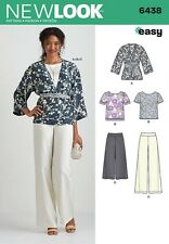NEW LOOK  Sewing Pattern  Miss Ladies Womens Plus Kimono+Top+Pants~6438 Sz 10-22