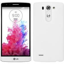 Custodia Rigida LG G3 S - gommata bianco + pellicola protettiva