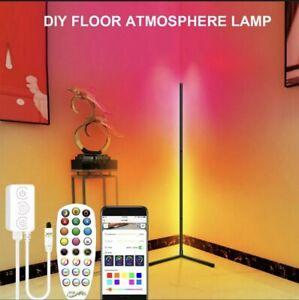 RGB LED Floor Corner Lamp Light Stand Bluetooth Streaming Gaming Decoration AU