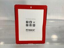 NEW Case iPad 4th Generation, New iPad & iPad 2, Trident AEGIS Series Red