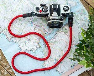 Red Rope Camera Strap Neck Shoulder - UK STOCK - FREE POSTAGE Canon Nikon Fuji