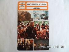 CARTE FICHE CINEMA 1992 1492 CHRISTOPHE COLOMB Gérard Depardieu Sigourney Weaver