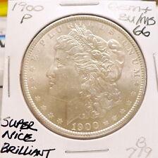 1900-P MORGAN SILVER DOLLAR GEM+ BU/MS, BETTER DATE, SUPER NICE+, WHITE B719