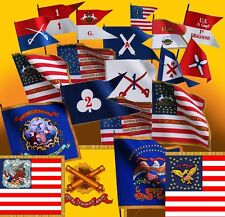 CIVIL WAR FLAGS - 5 FLAGS - YOUR CHOICE (54mm Size) - NEW