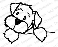 Impression Obsession Io Stamps Baxter Dog Puppy Rubber Cling Mounted Stamp