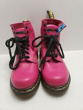 Doc Dr Martens Air Wair with Bouncing Soles Hot Pink Boots Size 4