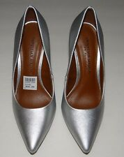 Women's Christian Siriano For Payless Silver Heels Shoes Size 5
