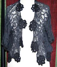 TWIN-SET (Simona Barbieri) spiderweb lace black bolero/vest, size IT L (38)