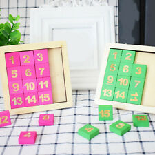Kids Wooden Digital Puzzles Educational Sliding Math Game Intelligence Toys Z