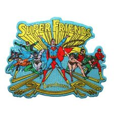 """Super Friends"" Patch Justice League Superhero Show DC Comics Iron-On Applique"