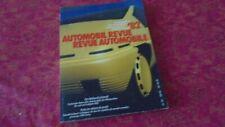 REVUE AUTOMOBILE NUMERO CATALOGUE 1982 AUTOMOBIL REVUE KATALOGNUMMER