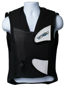 HELITE GP AIR VEST MEDIUM DESIGNED TO WEAR OVER RACE SUIT COMPLETE WITH LANYARD.