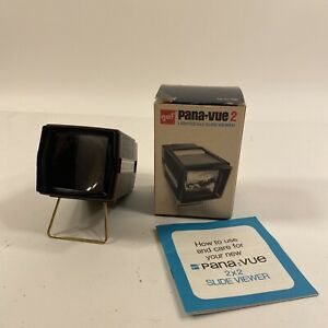 Vintage GAF Pana-Vue 2 Lighted Slide Viewer w/ Original Box - FREE SHIPPING
