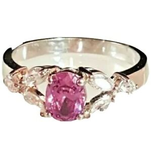Ladies Silver Plated Cocktail Birthstone  Ring Purple Sizes  6, 9, 10 ,11 Feb