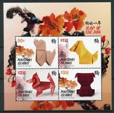 Marshall Islands 2018 MNH Year of Dog 4v M/S Dogs Chinese Lunar Year Stamps