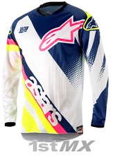 2018 Alpinestar Racer SUPERMATIC White Blue Yellow Motocross Jersey Youth XL
