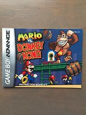 Mario vs. Donkey Kong (Nintendo Game Boy Advance, 2004) *Manual Only*