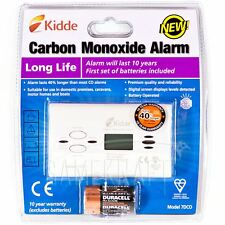 Kidde Digital 7DCO Carbon Monoxide Alarm Detector 10 YEAR LONG LIFE WARRANTY