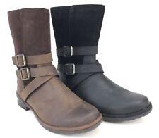 UGG Lorna Boot Black or Coconut Shell Waterproof Leather SideZip Women's 1095155