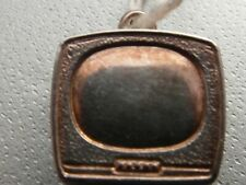 F53 SOLID SILVER OLD FASHION STYLE TELEVISION CHARM / PENDANT