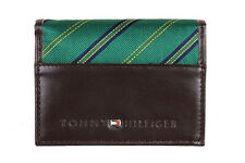 New Men's Tommy Hilfiger  Leather Trifold Credit Card Wallet 4311-02 Brown