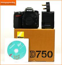 Nikon D750 Digital 24MP SLR Camera Body Battery & Charger Free UK PP