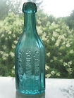Top Shelf Ice Blue 12 Sided Pontil C ABLE CO SODA WATER ST LOUIS MO SQUAT BOTTLE