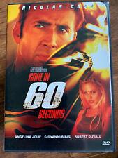 Gone in 60 Seconds DVD 2000 Nicolas Cage Car Thief Crime Movie Remake Region 1