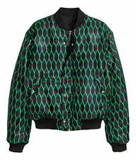 KENZO X H&M Men Reversible Bomber Jacket Green / Black  Size L / Large Rare