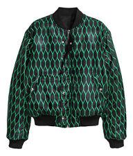 KENZO X H&M Men Reversible Bomber Jacket Green / Black  Size L / Large Iconic