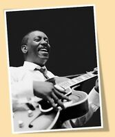 WES MONTGOMERY PLAYING GUITAR JAZZ MUSIC SMILE #01 PRINT POSTER SIZE