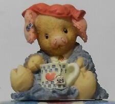 """This Little Piggy """"This Little Piggy Stayed Home"""" Figurine New 1994 Enesco"""