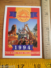 Disneyland 40 Years Collectors series card 1994 The Lion King Celebration #ed LE