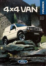 Ford Maverick Van 4x4 2.7 TD 1996-97 UK Market Foldout Sales Brochure