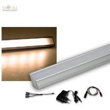 3er Set LED Alu-Eck-Leiste warmweiß + Trafo Unterbauleuchte Küchenlampe Streifen