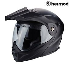 Scorpion ADX-1 Modular Flip Dual Sport Motorbike Motorcycle Helmet - Matt Black