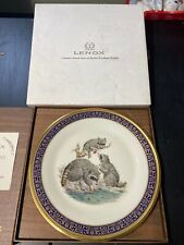 Lenox Woodland Wildlife Plate Bobcats 1980 Boehm Studios Limited Issue