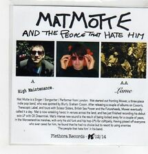 (FL176) Matmotte And The People That Hate Him, High Maintenance - 2014 DJ CD