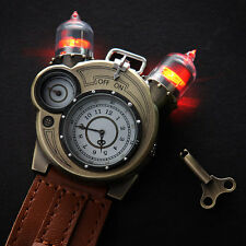 Tesla Steampunk Style Retro Chronometer Watch Collector Tin Cosplay