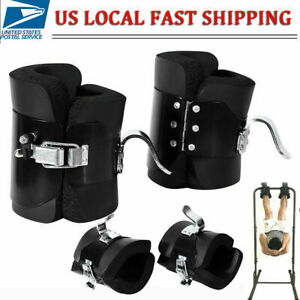 Inversion Boot Gravity Guiding System Pair Boots Ankle Holders Chrome Exerciser