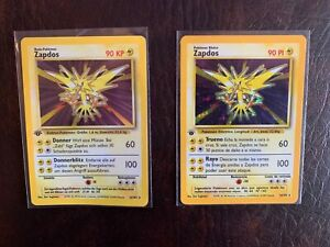 Collection of 1st edition Base Set Zapdos