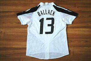 KIDS BOYS 8-10YEARS GERMANY 2004-2005 HOME FOOTBALL SHIRT JERSEY MICHAEL BALLACK