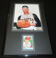 Jim Bunning Signed Framed 11x17 Photo Display TOPPS Pirates