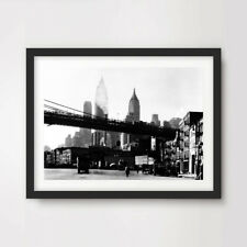 NEW YORK CITY BLACK WHITE VINTAGE PHOTO ART PRINT POSTER Tall Buildings Picture