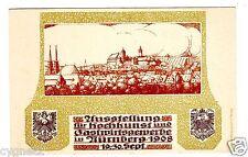 Postcard German 1908 Cooking Arts Exhibition Nurnberg