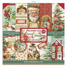 """Stamperia 12"""" x 12"""" Paper Pad - Classic Christmas 10/pk Double Sided Scrapbook"""