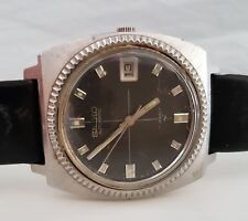 Rare Vintage Men SEIKO Automatic Wrist Watch, Coin Bezel, Hi Beat 7005 JAPAN